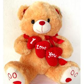 Urso de Pelúcia I Love You 60 cm